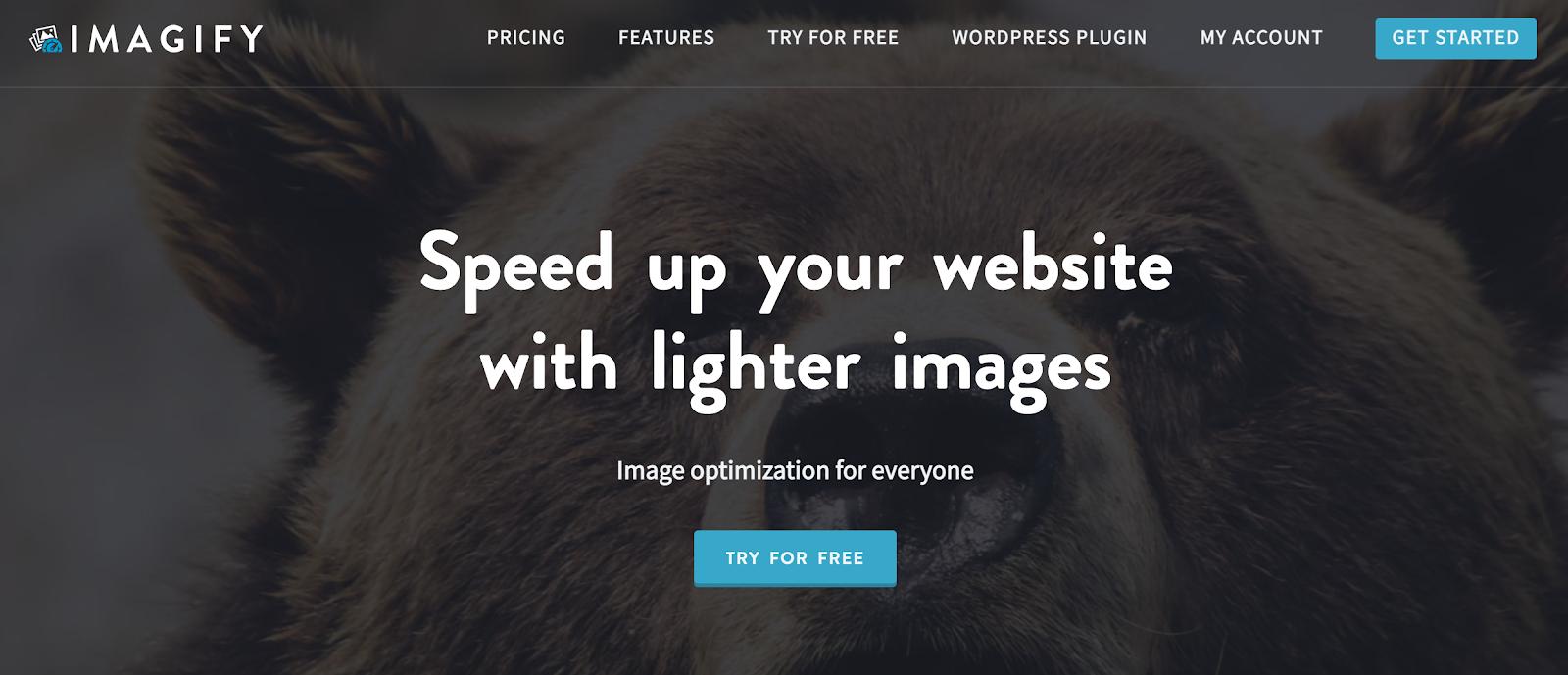 Imagify homepage