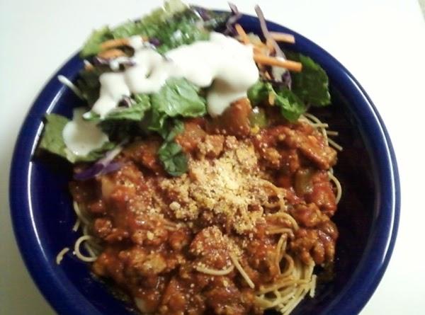 Lightening Fast Healthy Spaghetti Recipe