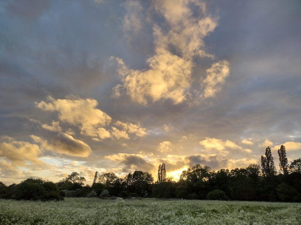 Motorola Moto G50 photo sample in dusk con