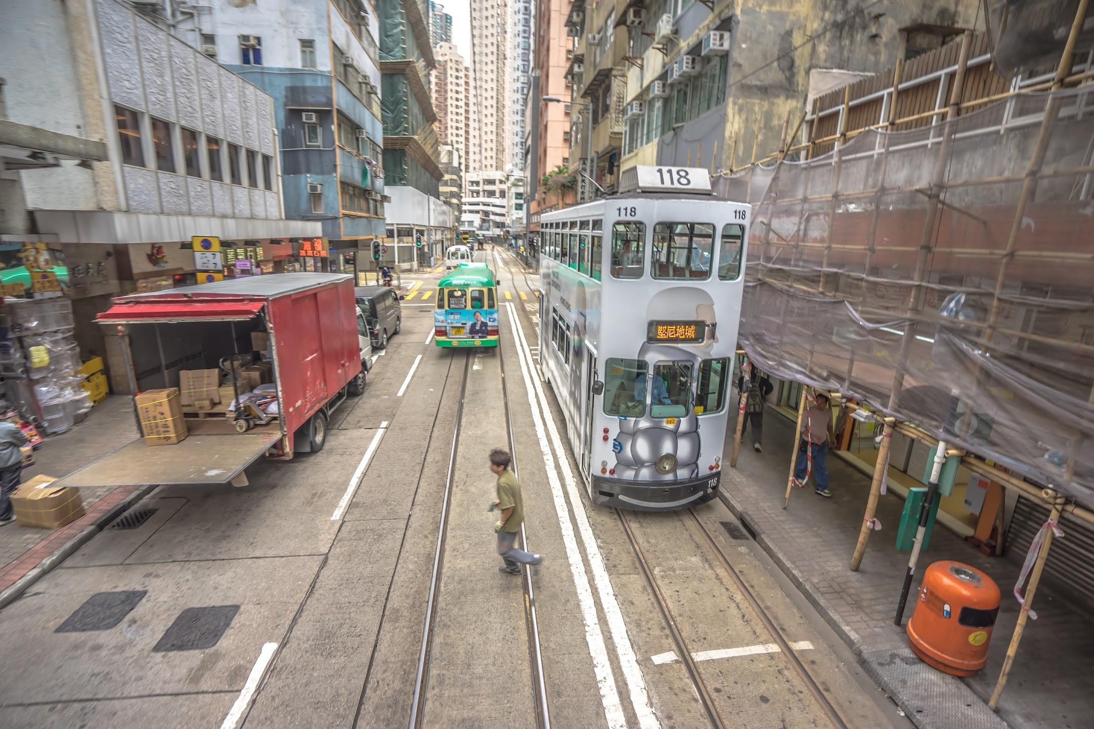 香港 トラム 2階