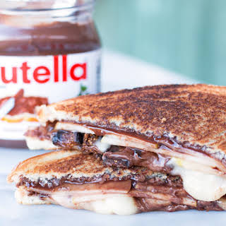 Grilled Nutella, Brie, Pear & Fig Sandwich.