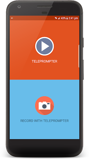 Pro autocue - Teleprompter - with Selfie support screenshot 1