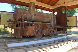 Photo: Laos Reisen, Don Det, historische Lokomotive