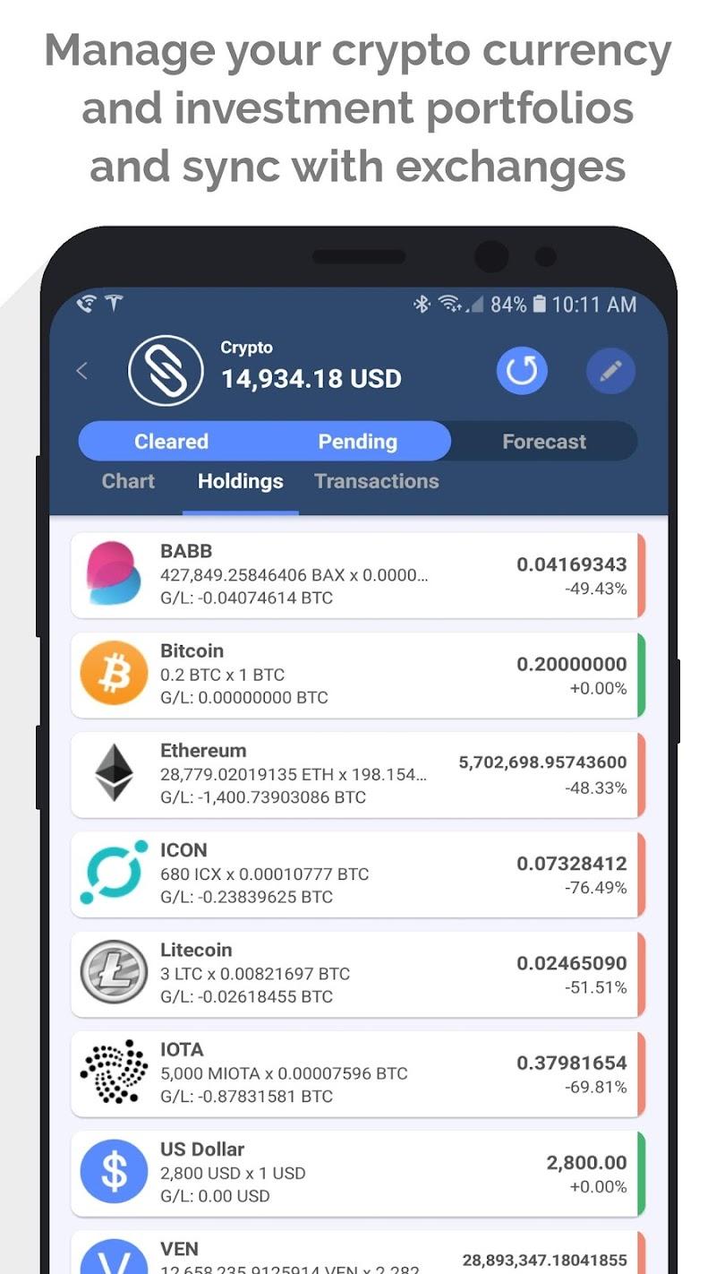 MoneyWiz 3 - Fiat & Crypto Screenshot 1