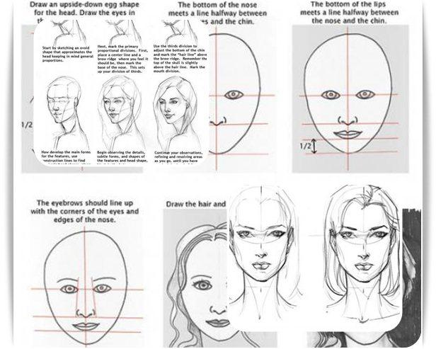 Learn to Draw Girl Face- screenshot
