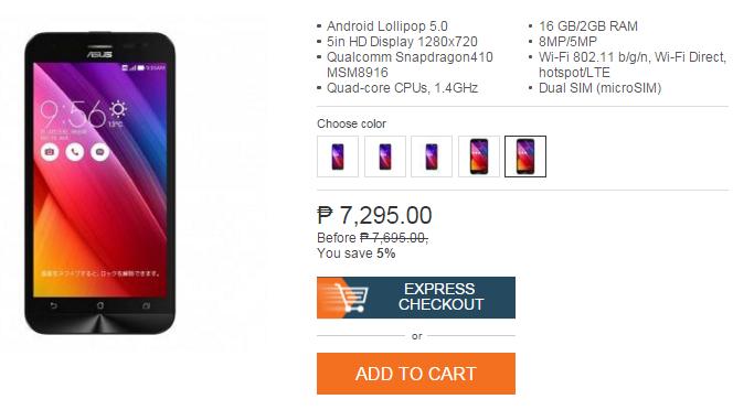 Asus Zenfone 2 Laser Lazada Onlice Revolution