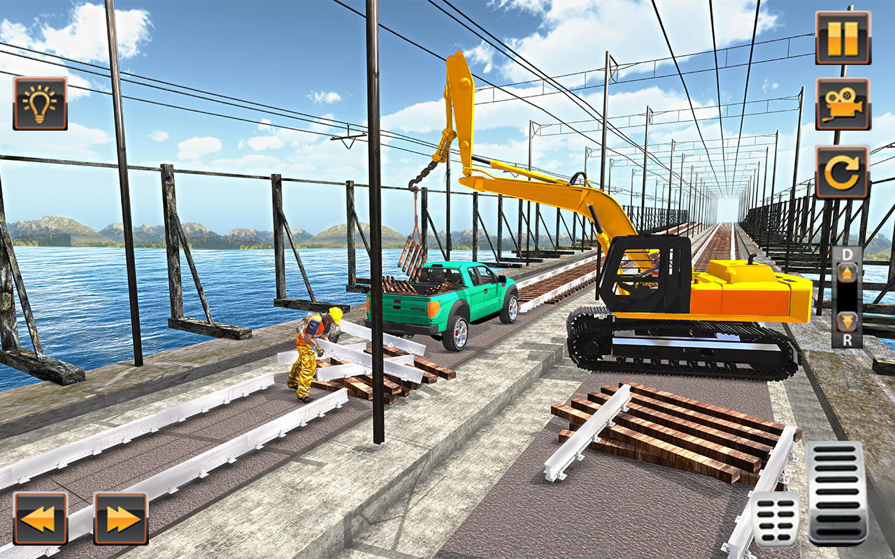Indian Railway Bridge Builder: Train Games 2017- screenshot