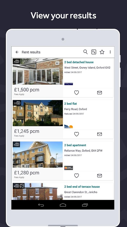 Rightmove UK property search- screenshot