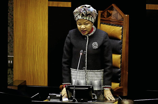 National Assembly Speaker Baleka Mbete. File photo.
