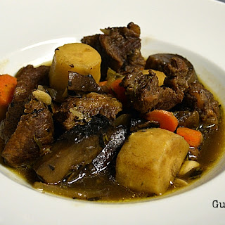Beef and Parsnip Stew with Marjoram