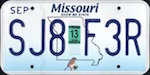 Image of the Missouri state license.