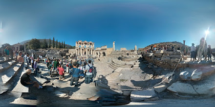 Photo: Courtyard of the Library of Ephesus.
