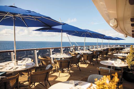 Dine al fresco on the deck of La Veranda aboard Seven Seas Splendor.