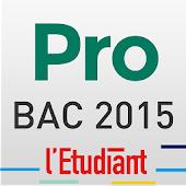 Bac PRO 2015 avec l'Etudiant