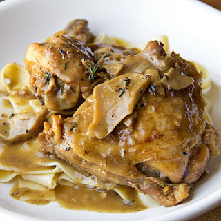 Pressure Cooker Braised Porcini Chicken