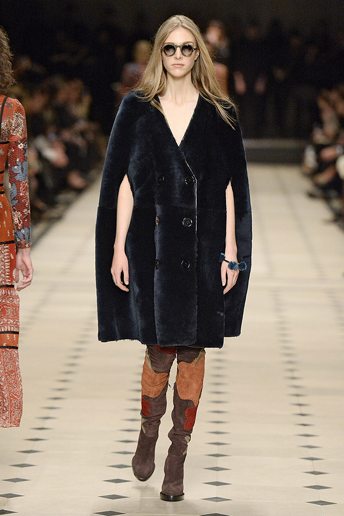 Burberry Prorsum Runway Fall 2015 at LFW. Burberry vows to ditch fur at this years 2018 LFW.