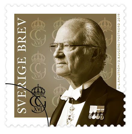Frimärke Kung Carl Gustaf 2019