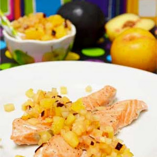 Steamed Salmon with Plum-Ginger Salsa