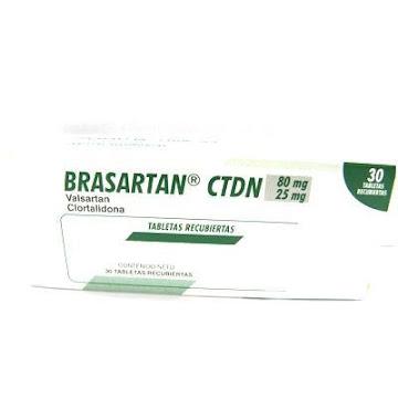 Valsartan Clortal BRASARTAN CTDN 80/25MG TABLETAS CAJA X30TAB. FARMA VALSARTAN CLORTAL