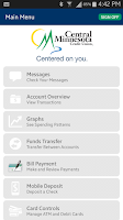 Screenshot of My CMCU Mobile Banking