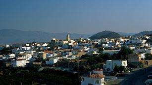 Vista general del pueblo de Antas.