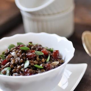 PUY LENTIL SALAD with CRANBERRIES and PURSLANE Recipe