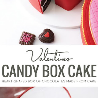 VALENTINE'S HEART CANDY BOX CAKE