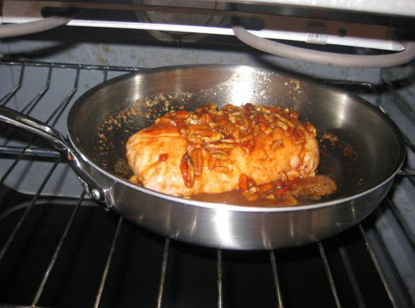 Place the pork loin in the oven Bake for about 30 minutes. While Pork...
