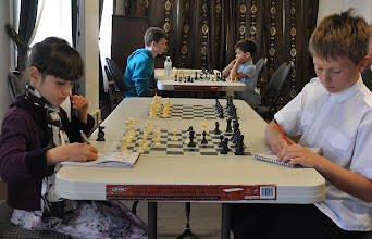 Photo: Decisive game of the tournament: Agata vs Nikita