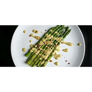 Grilled Asparagus with Dijon Mustard, Balsamic Vinegar and Capers Vinaigrette