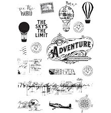 Simple Stories Simple Vintage Traveler Clear Stamps 4X6 - See The World UTGÅENDE