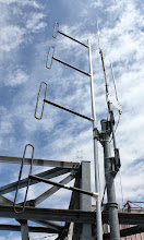 Photo: The VE4WDR VHF, UHF and 1.2 Gg antennas