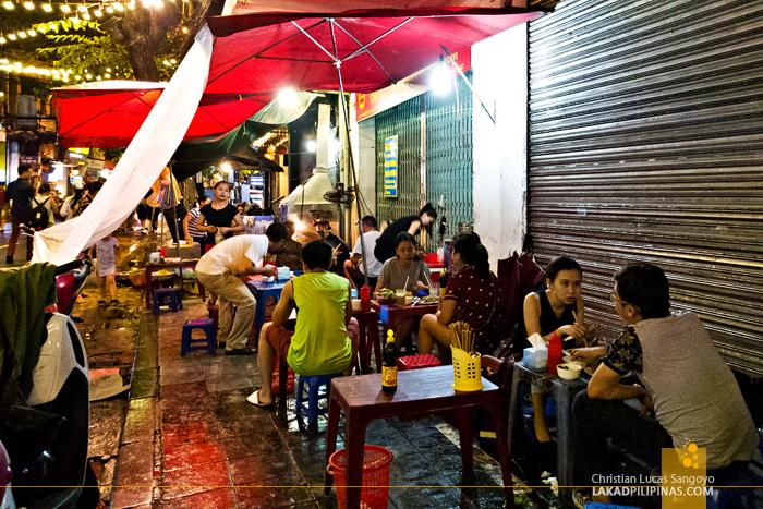 Street Food  Hawkers Hanoi Vietnam