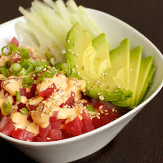 Spicy Tuna Rice Bowl.