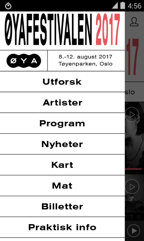 Øyafestivalen 2017- screenshot