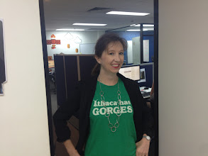 Photo: Cara from Brisbane Marketing shows off her Geek shirt!
