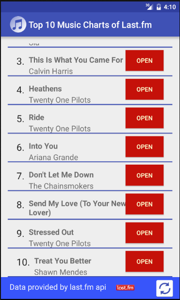 Top 10 Music Charts- screenshot