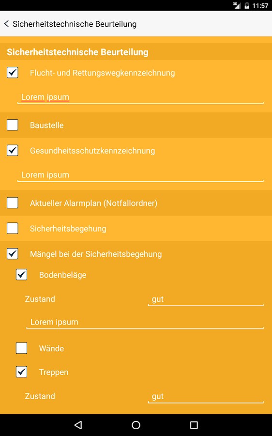 Schulcheck - Risikomanagement – Screenshot