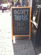 Photo: Occupy Third Rail. Sign outside Third Rail Coffee.