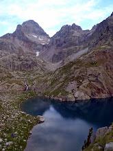 Photo: Alto Galligo (Alt Gàllego) (Aragó: Ivó d'Arriel Baxo (3er estany) amb el cims del Pallás/Palas i del Bat Crabèra