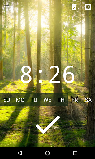 Good alarm clock without ads with music and widget screenshot 3