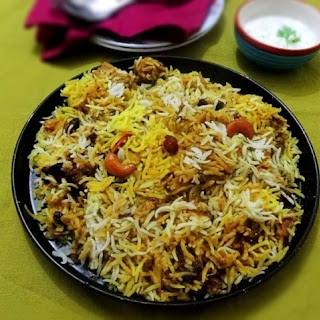 Hyderabadi-style Chicken Biryani