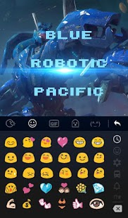 Blue Robotic Pacific Keyboard Theme - náhled