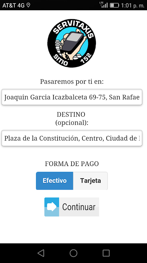 Servitaxis CDMX- screenshot