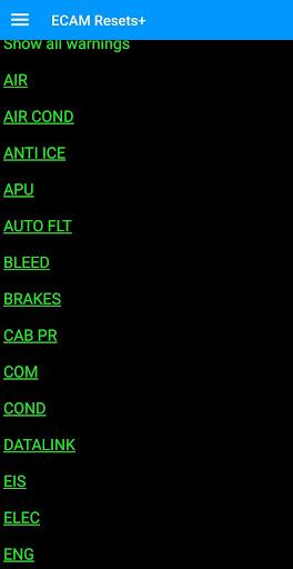 ECAM Resets + screenshot