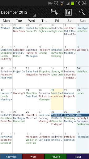 Business Calendar Beta screenshot 3