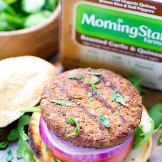 Grilling With a Twist with MorningStar Farms - Roasted Garlic And Quinoa Burgers