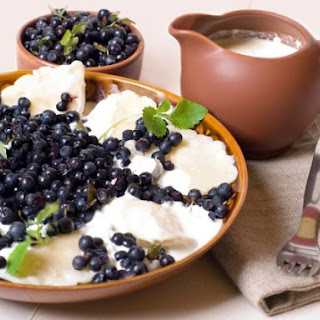 Varenyky With Bilberry.