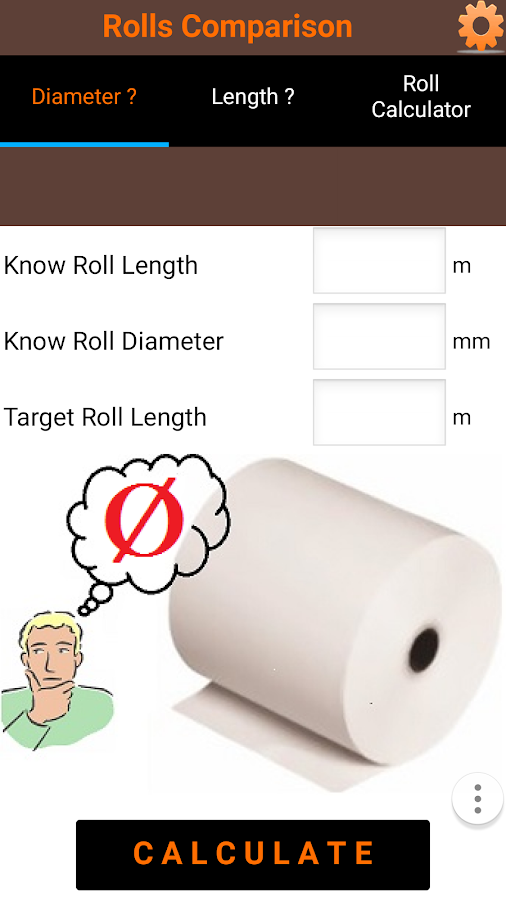 Roll diameter calculator android apps on google play roll diameter calculator screenshot sciox Choice Image