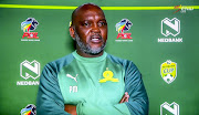 Mamelodi Sundowns coach Pitso Mosimane shares his thoughts at TV/virtual press conference in Johannesburg.